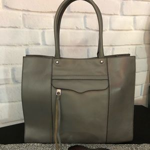 Rebecca Minkoff like new large leather gray tote.